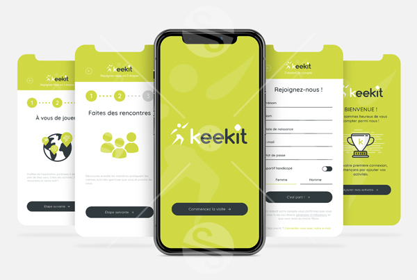 UI UX application : Interface & Expérience utilisateur, Prototypage – Keekit